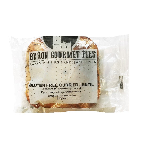 Byron Gourmet GF Pie Curried Lentil 220g