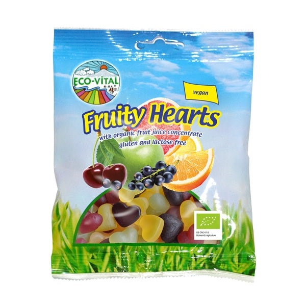 Eco Vital Fruity Hearts 100g
