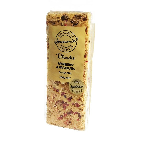 Bellarine Brownie Co - Raspberry & Macadamia 280g