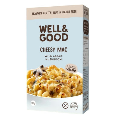 Well & Good - Cheesy Mac - Wild Mushroom 110g