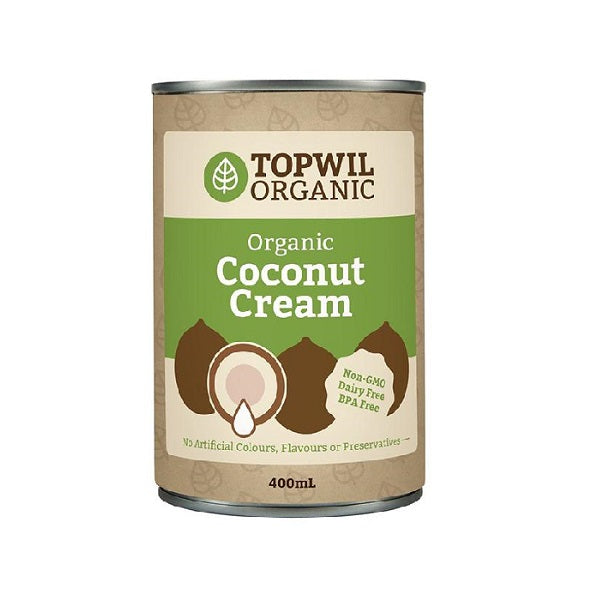 Topwil Organic Coconut Cream 400ml