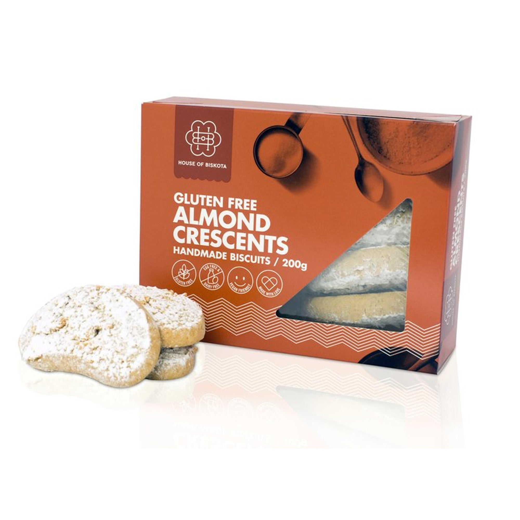 Biskota Almond Crescents 200g