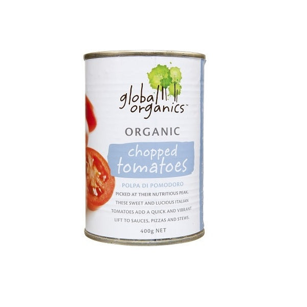 Global Organics Chopped Tomatoes 400g