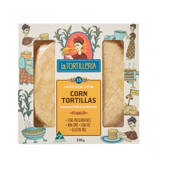 La Tortilleria Corn Tortillas 15 Pack  330g