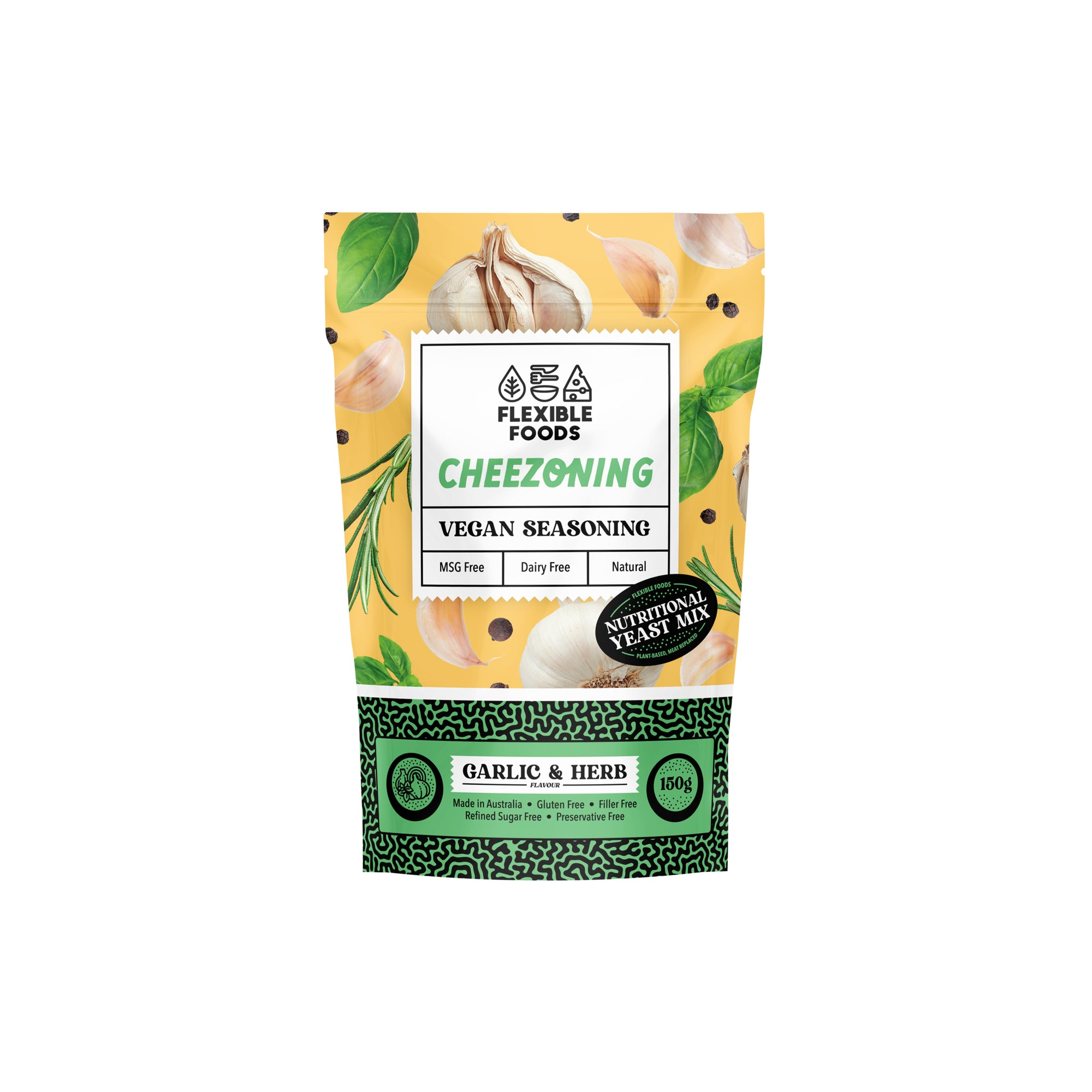 Flexible Foods - Cheezoning - Garlic & Herb 150g