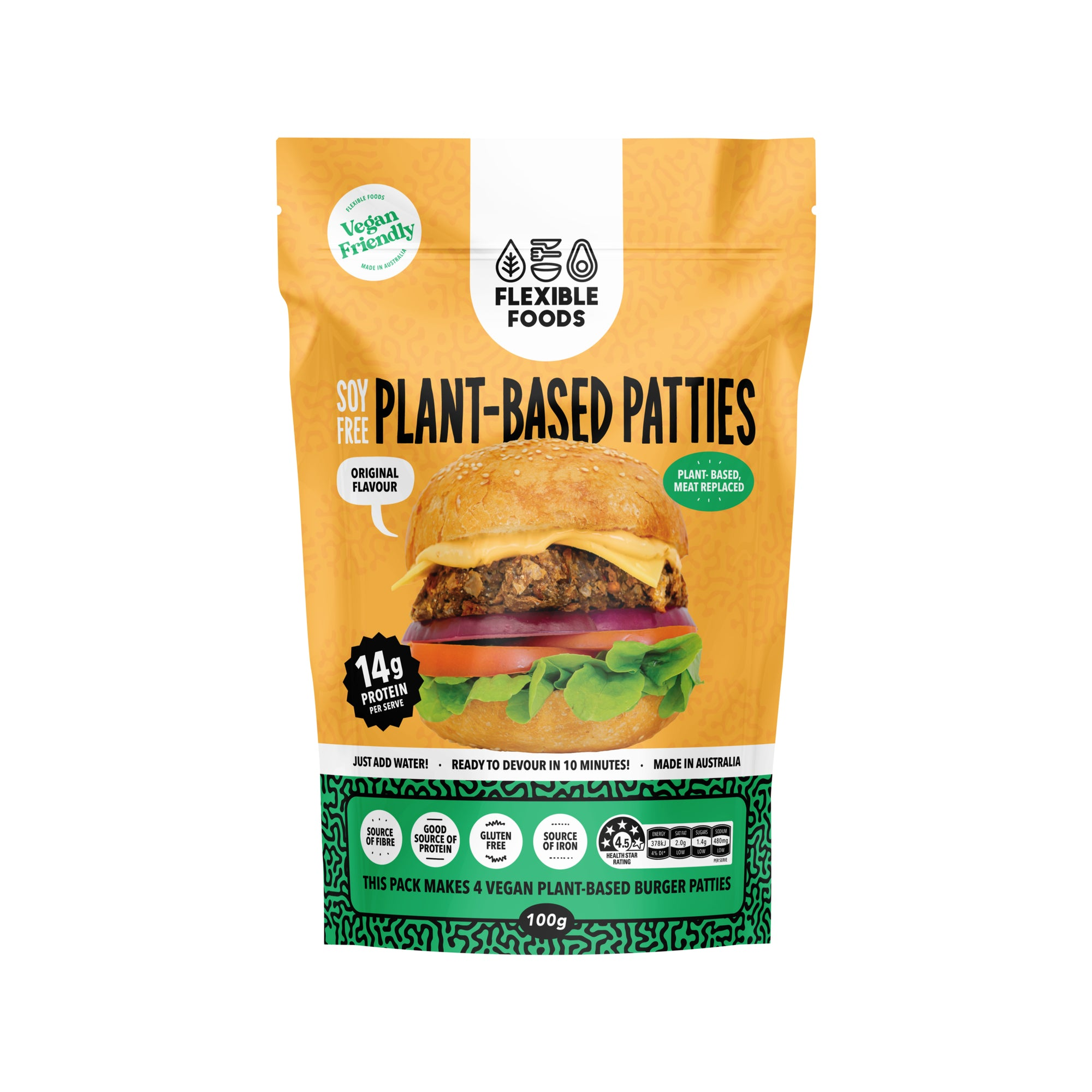 Flexible Foods - Plant Based Patties 100g