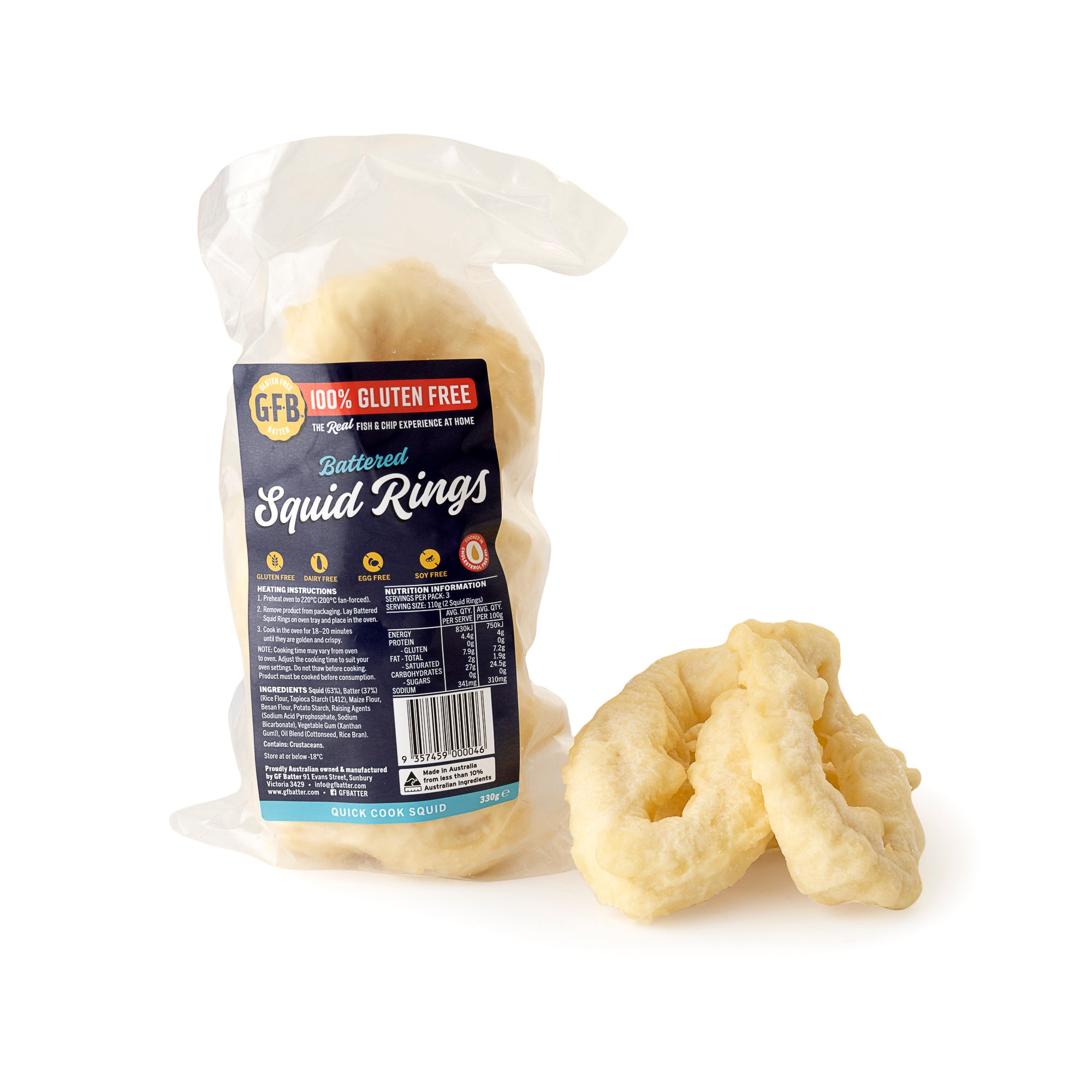GF Batter - Battered Squid Rings 6 Pack