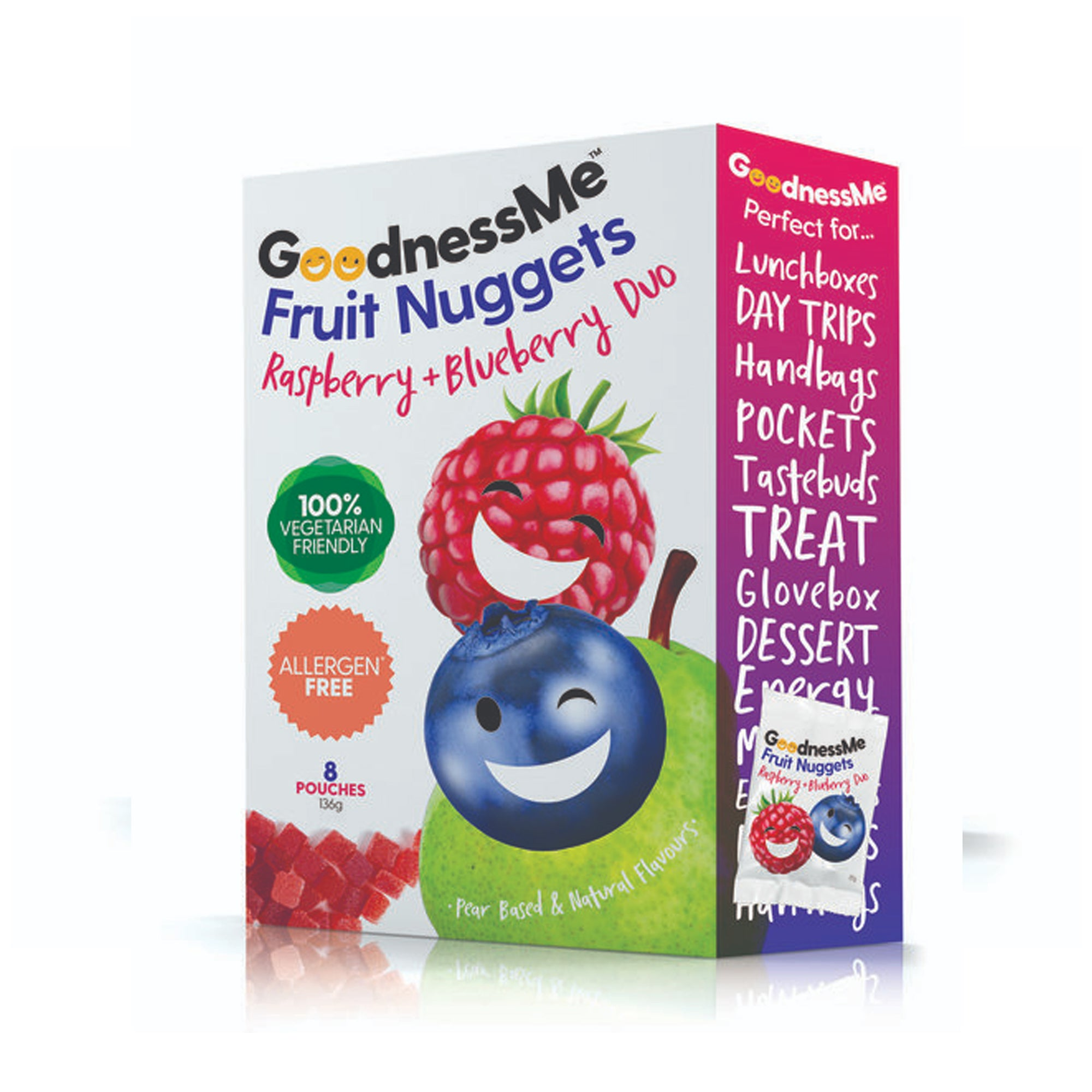 Goodness Me - Fruit Nuggets - Raspberry Blueberry 119g