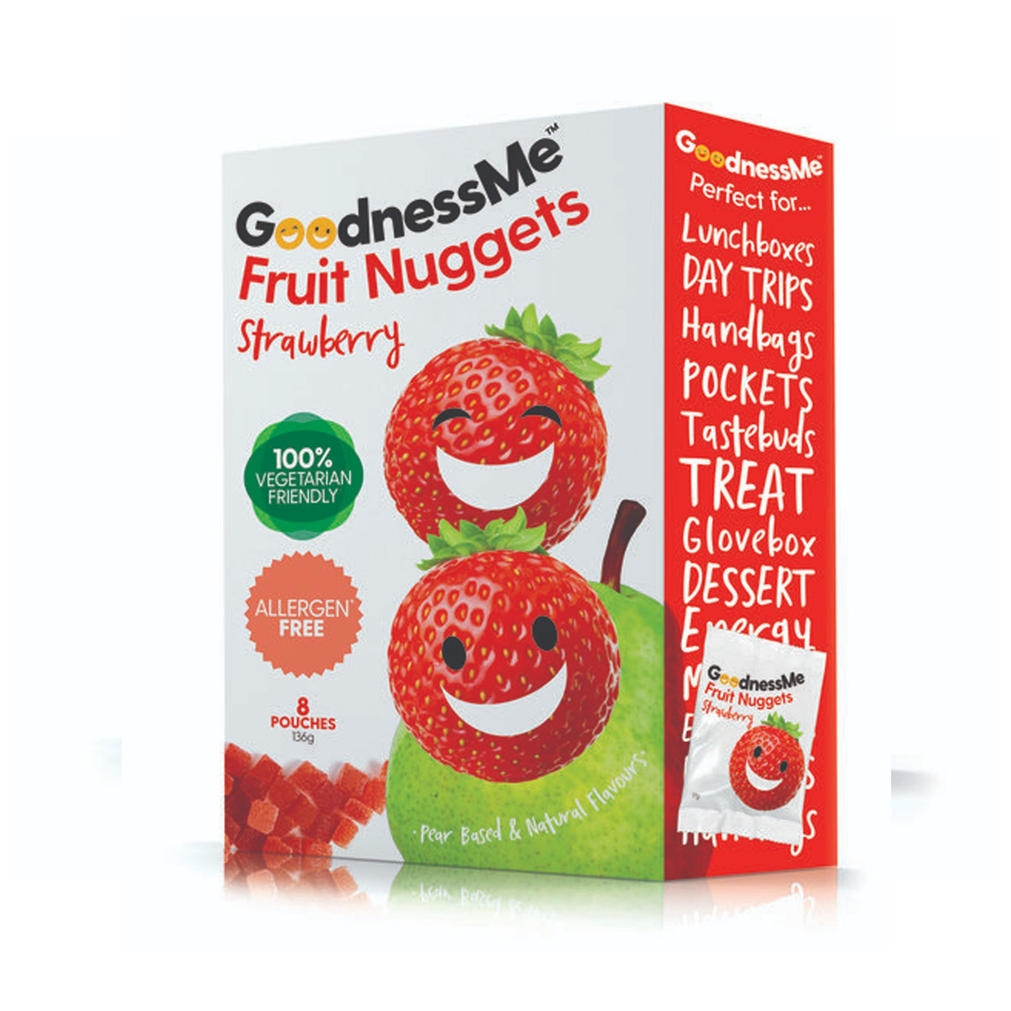 Goodness Me - Fruit Nuggets - Strawberry 119g
