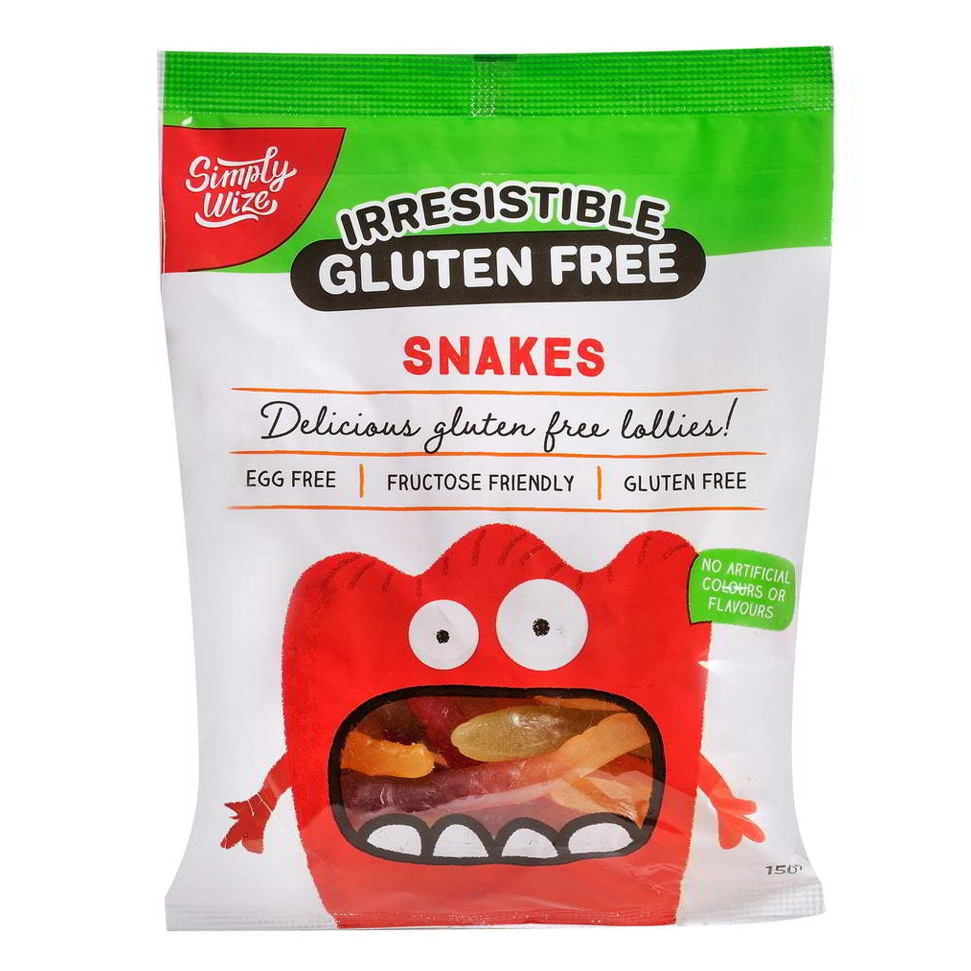 Simply Wize Irresistible Snakes 150g