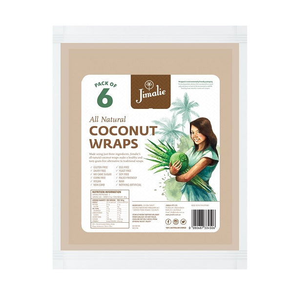 Jimalie - Coconut Wraps 6 Pack