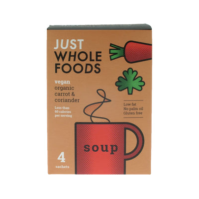 Just Wholefoods - Organic - Carrot & Coriander - Cup of Soup 68g