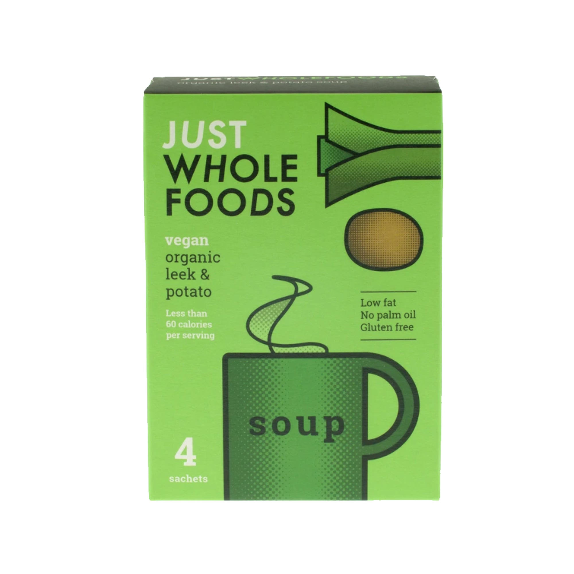 Just Wholefoods - Organic - Leek & Potato - Cup of Soup 68g