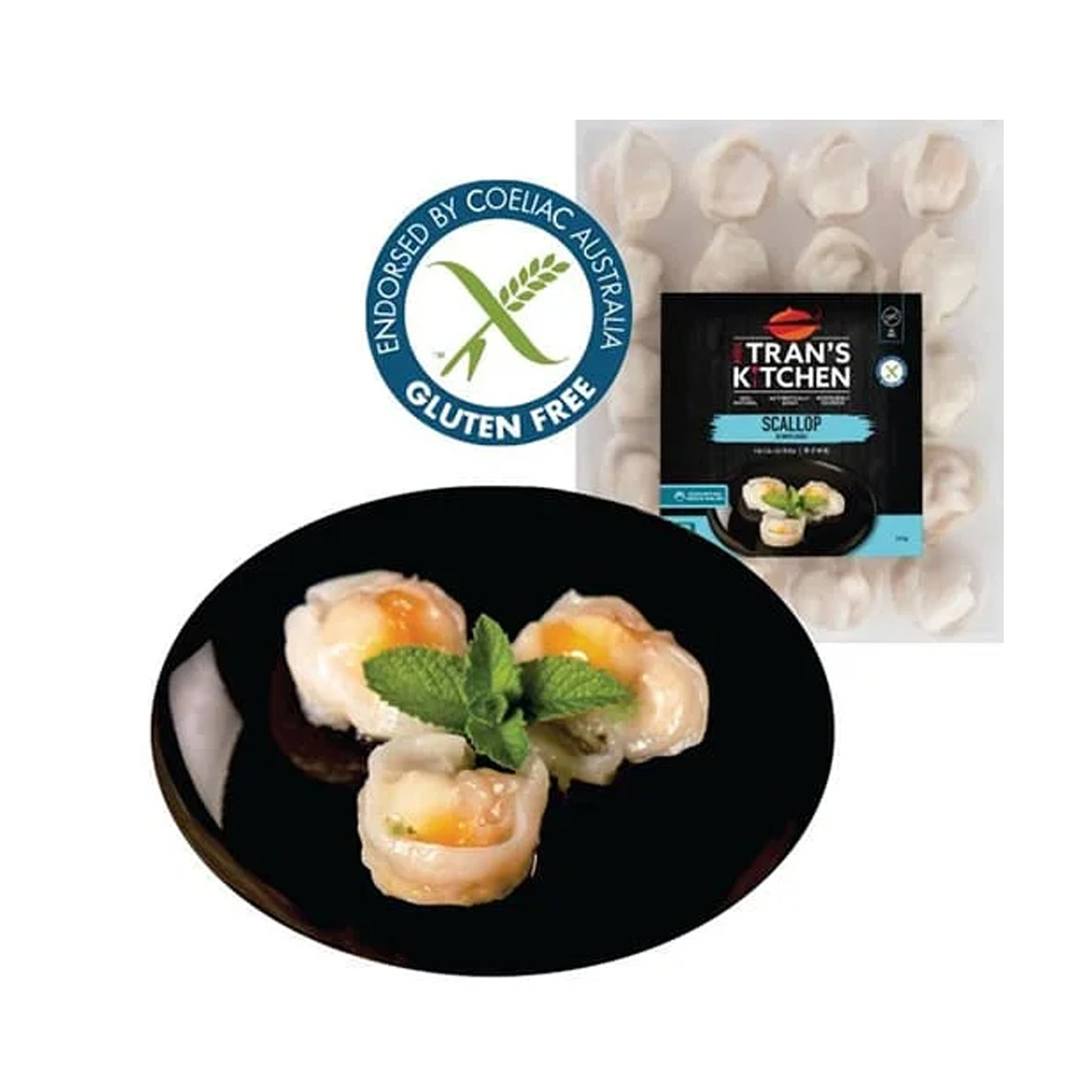 Mrs Trans Dumplings - Scallop & Prawn 500g