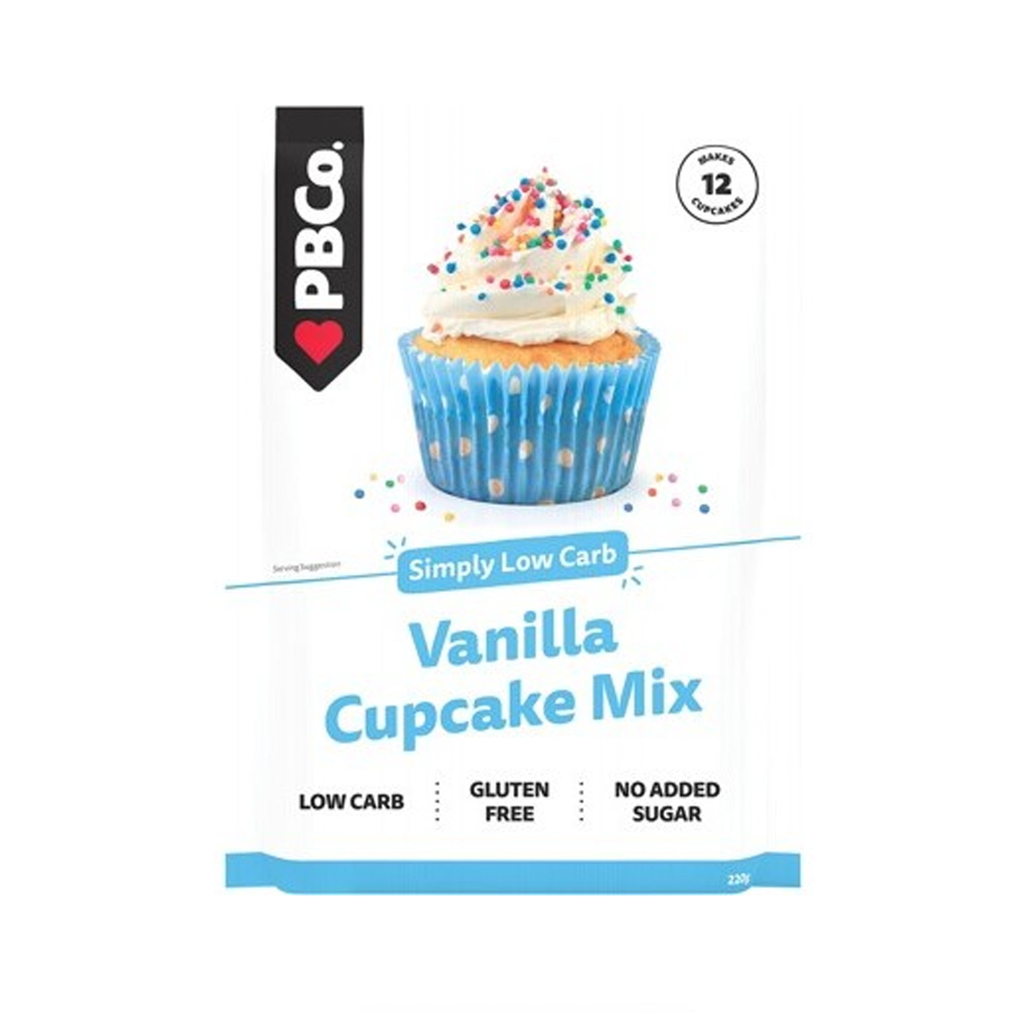 The Protein Bread Co - Low Carb - Vanilla Cupcake Mix 220g