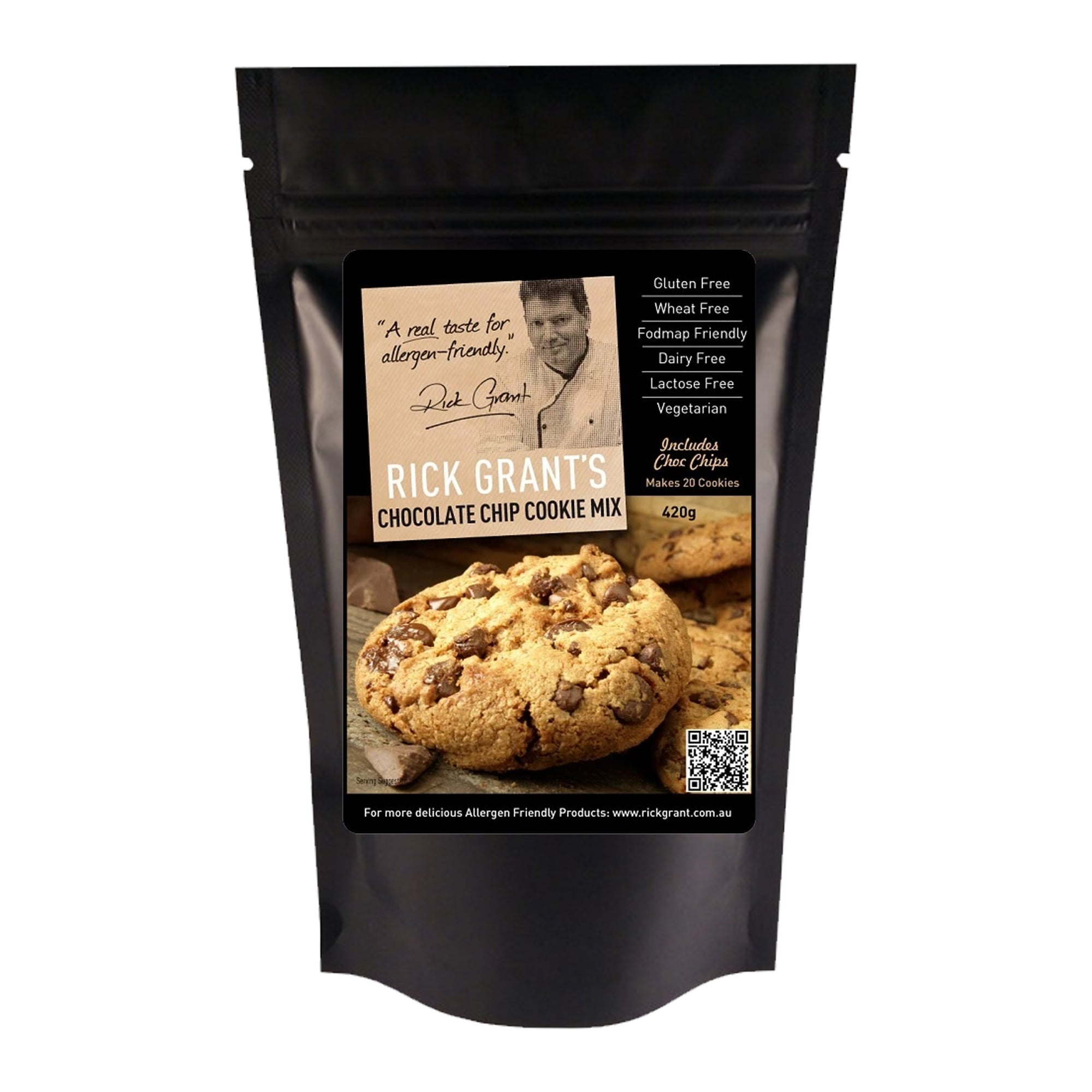 Rick Grants Mix Choc Chip Cookie 420g