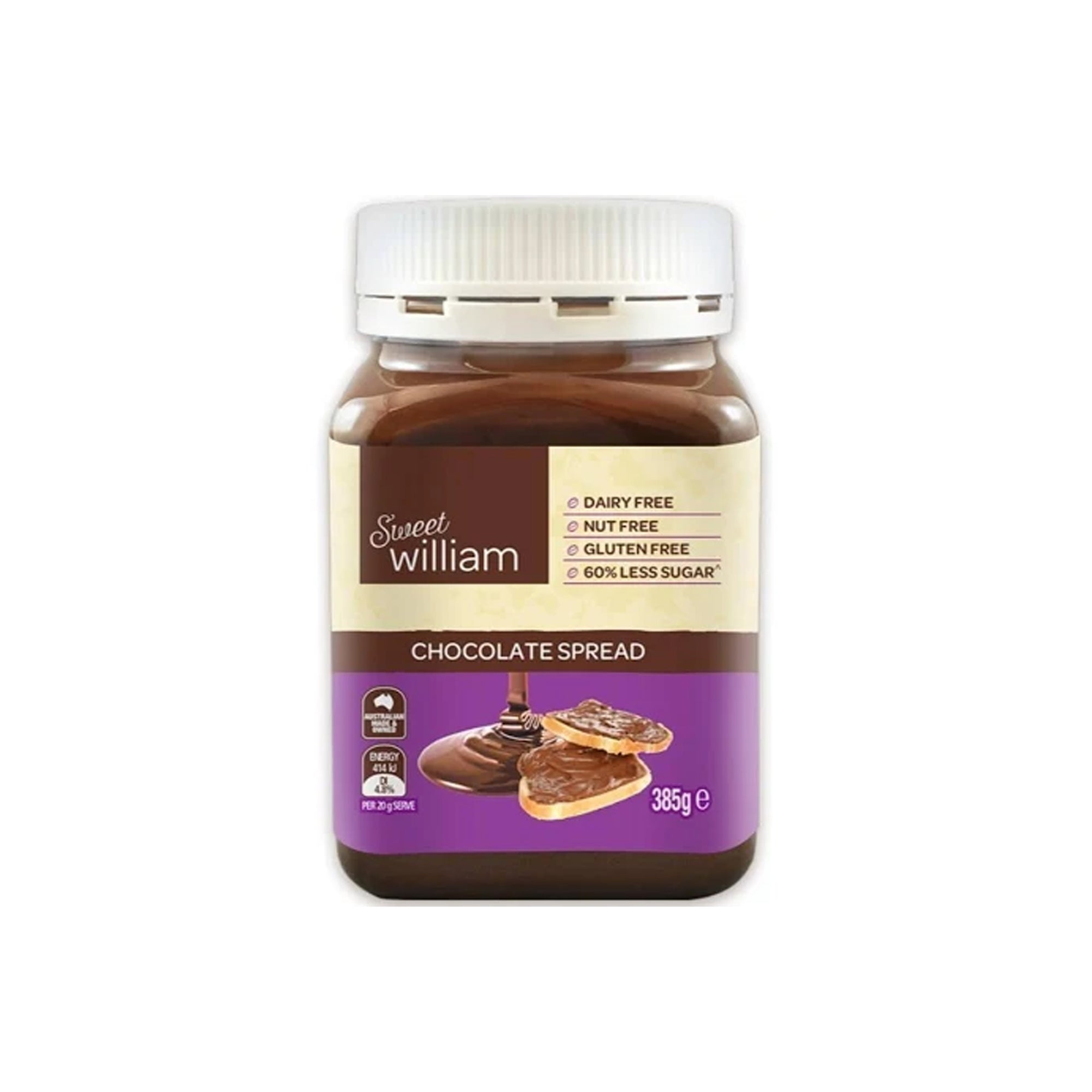 Sweet William - Chocolate Spread 385g