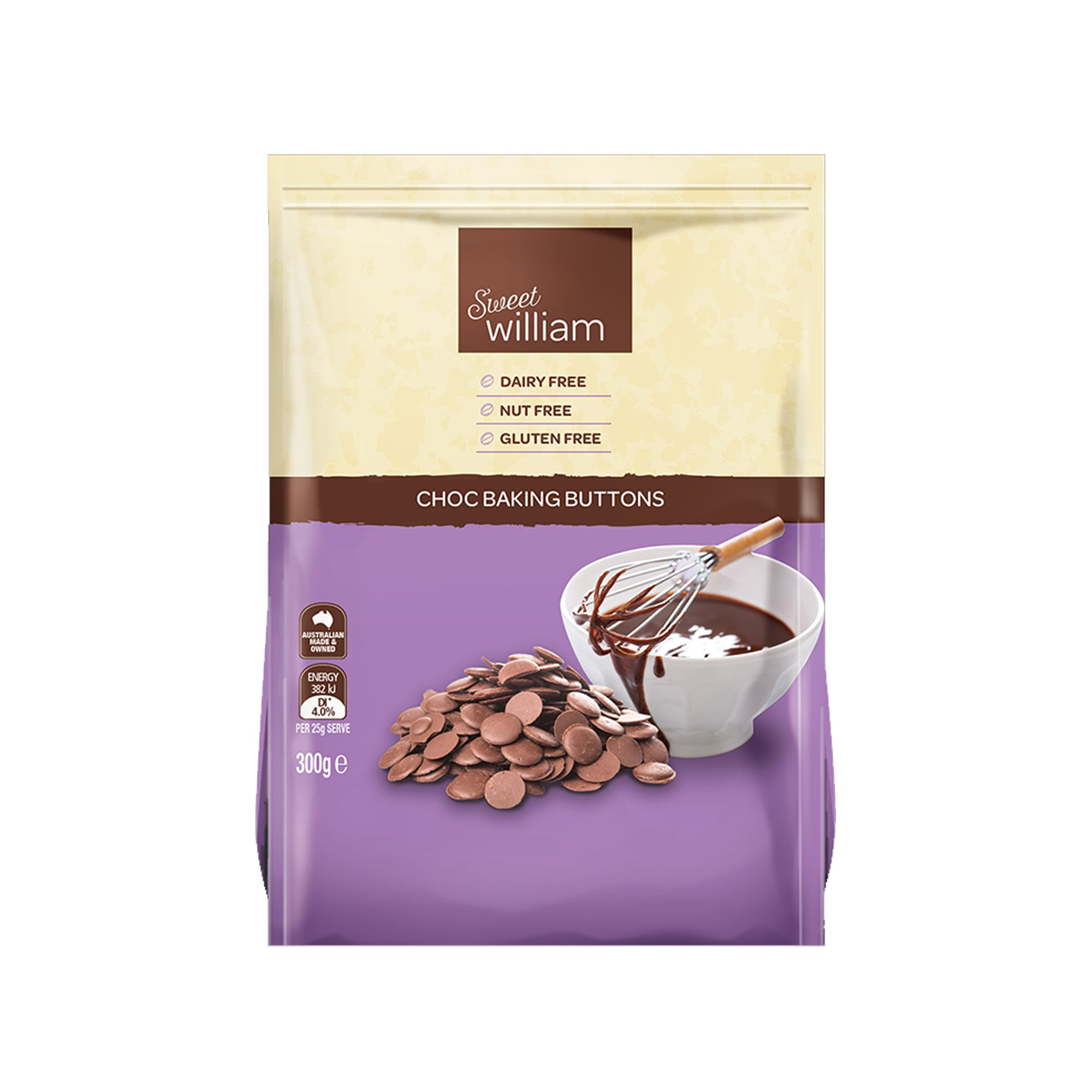 Sweet William - Original Choc Buttons 300g