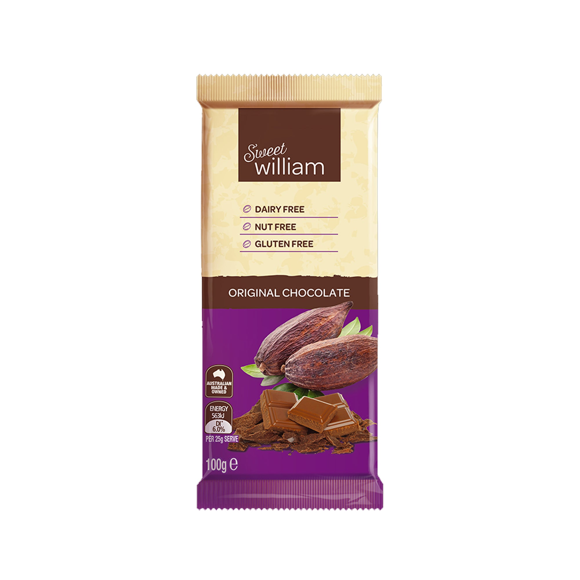 Sweet William - Original Chocolate Bar 100g