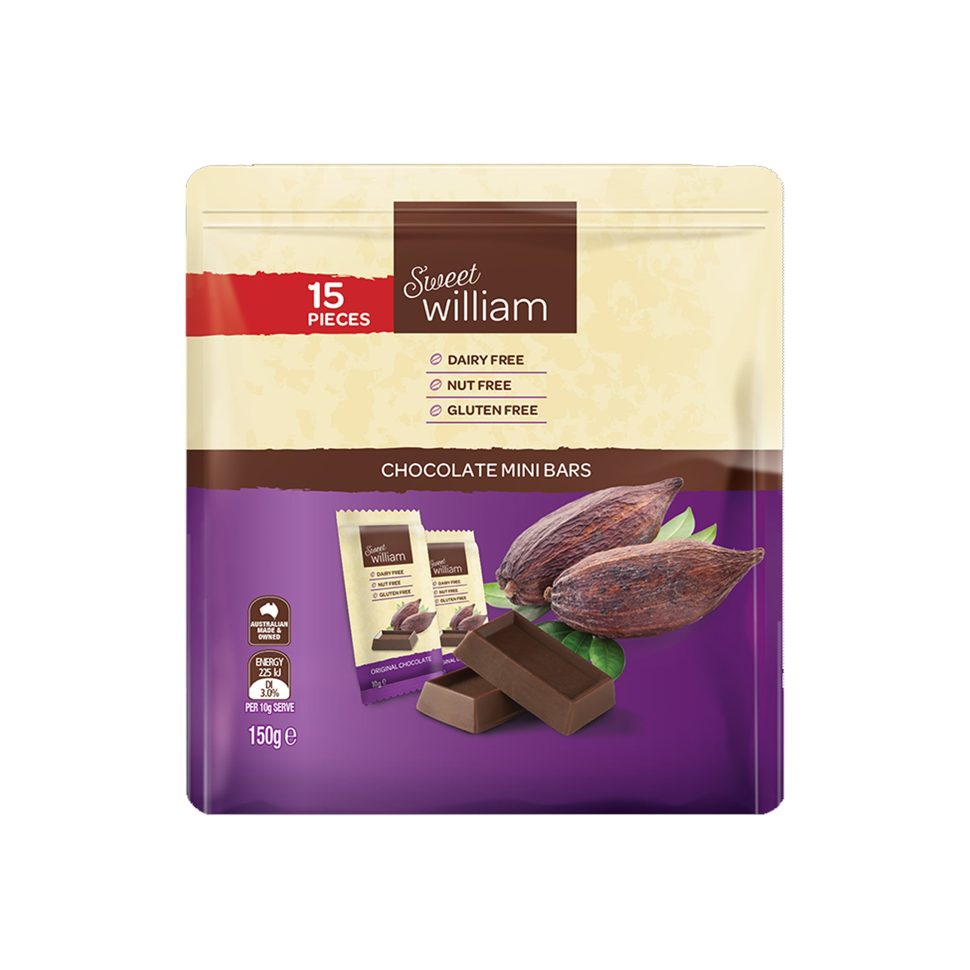 Sweet William - Chocolate Mini Snacks 150g