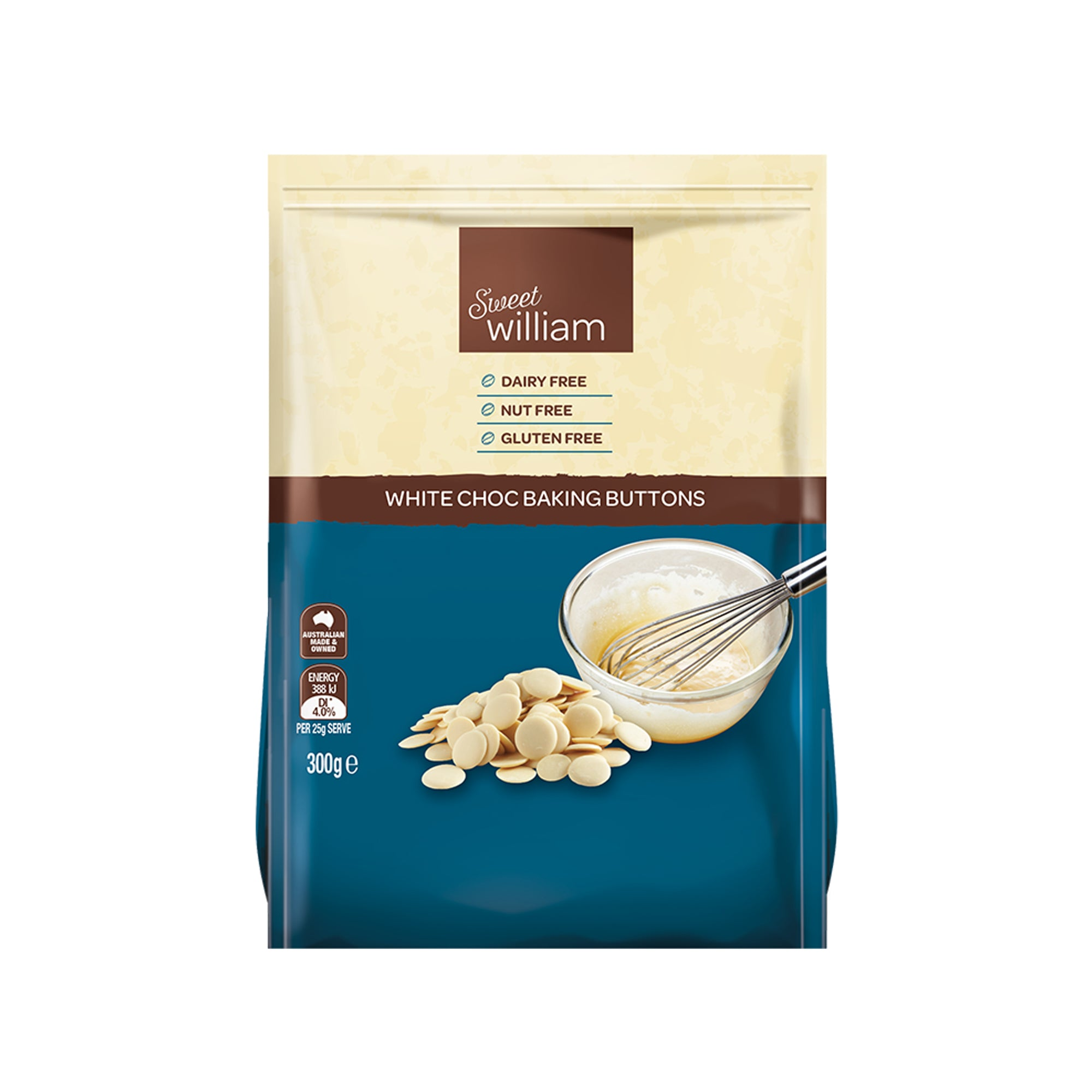 Sweet William - White Chocolate Buttons 300g