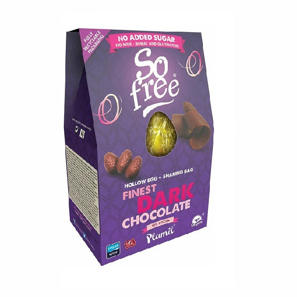 So Free - NAS - Finest Dark - Hollow Choc Egg with Mini Eggs 125g