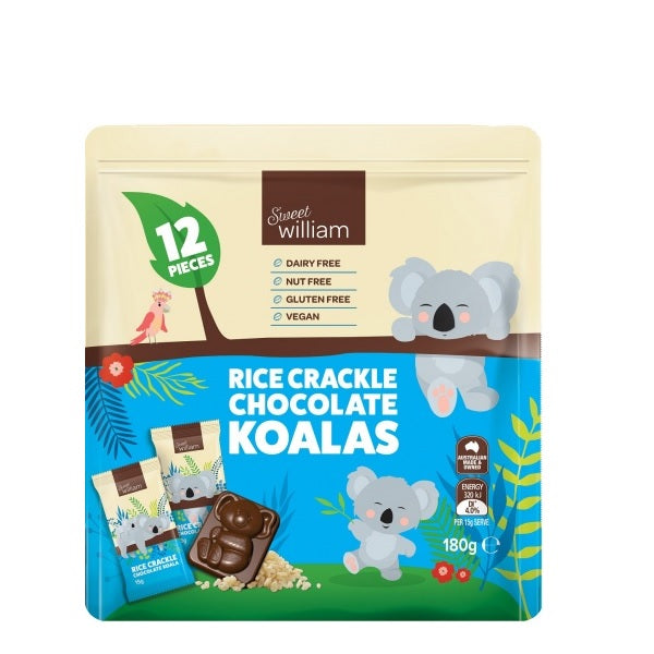 Sweet William - Mini Koala Crackle 12 Pack 180g