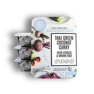 We Feed You -  Thai Green Coconut Curry with veg & brown rice 350g