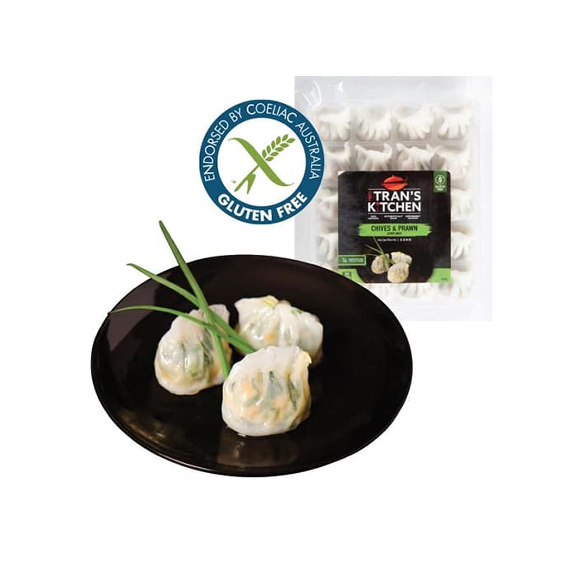 Mrs Trans Dumplings - Chive & Prawn (20) 500g