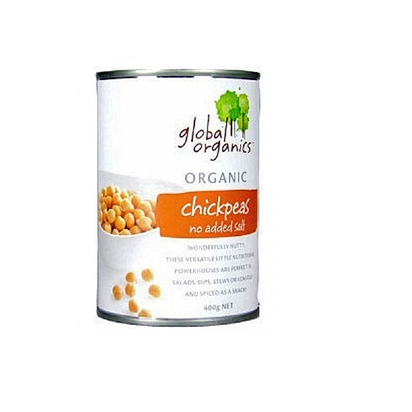 Global Organics Chickpeas No Salt 400g