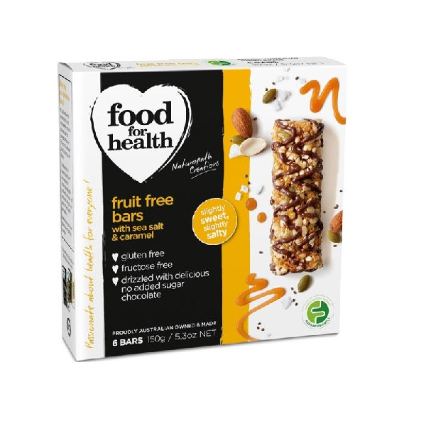 Food for Health Bars Sea Salt & Caramel 150g