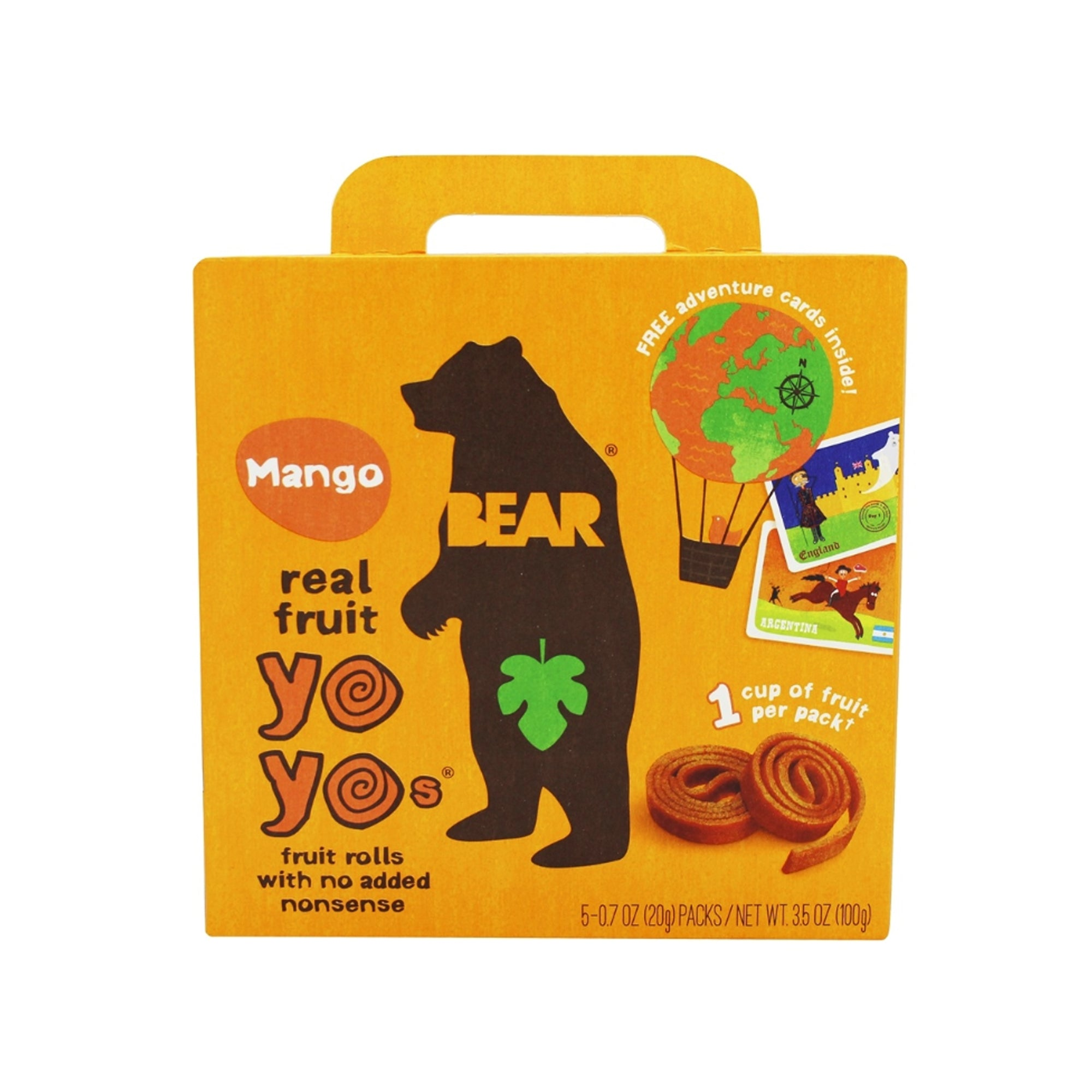 Bear Nibbles - Fruit Roll - Mango 5 Pack 200g