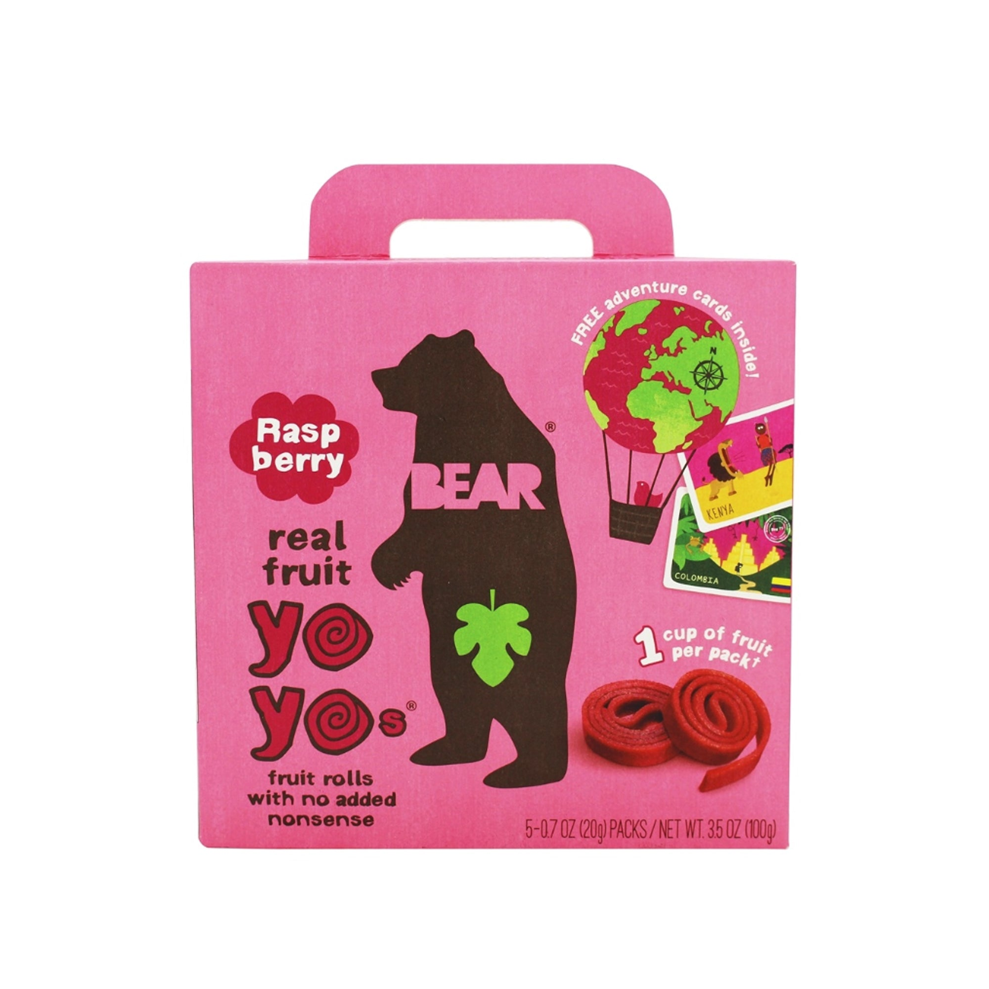 Bear Nibbles - Fruit Roll - Raspberry 5 Pack 200g