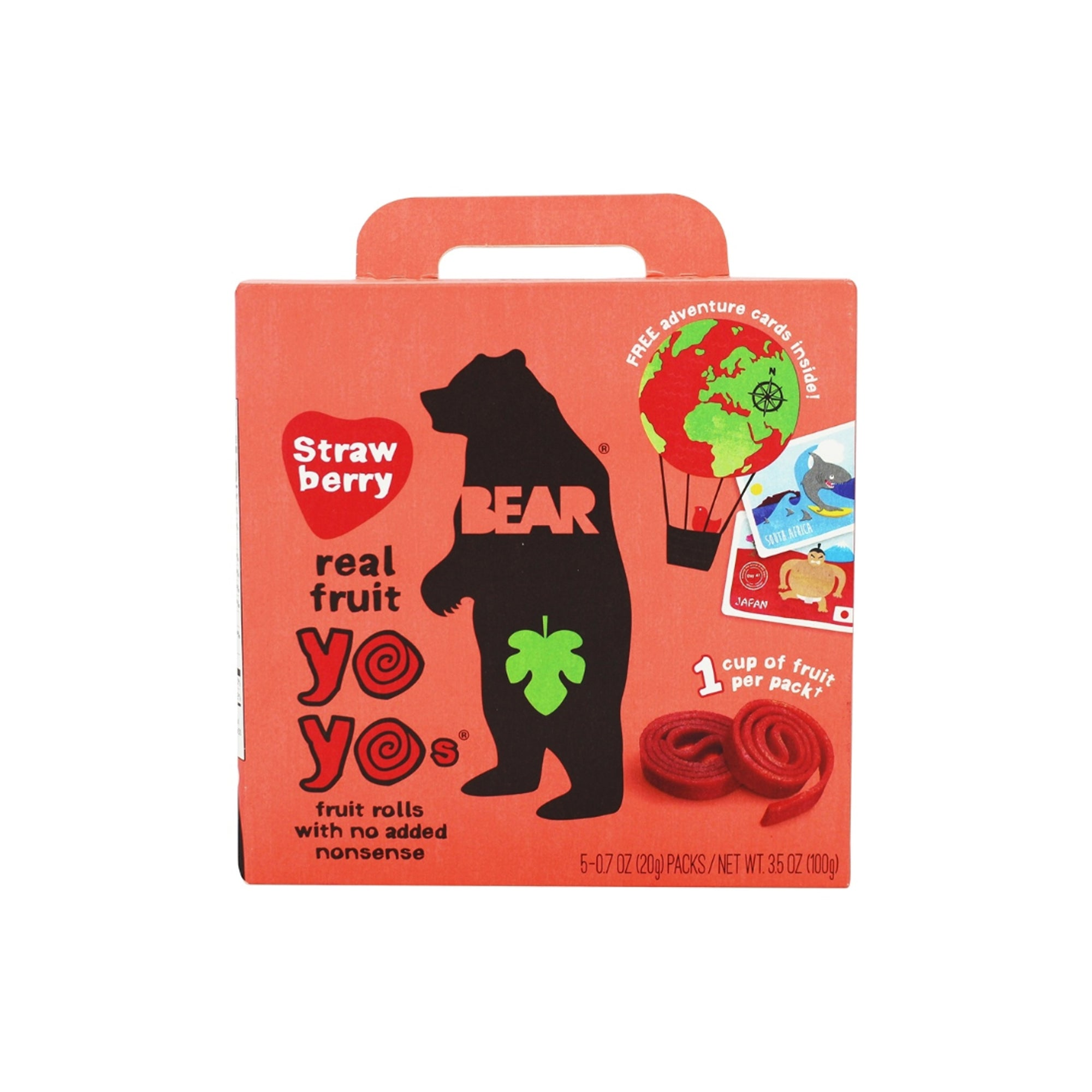 Bear Nibbles - Fruit Roll - Strawberry 5 Pack 200g