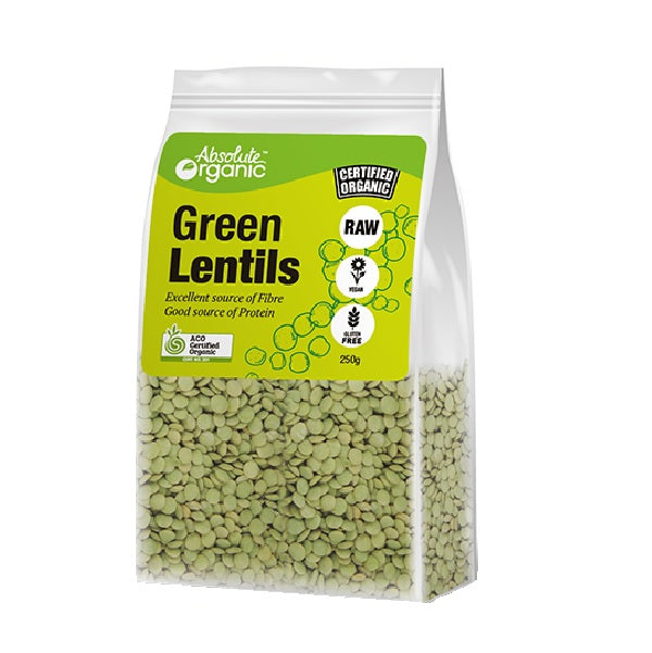 Absolute Organic - Lentils Green 400g