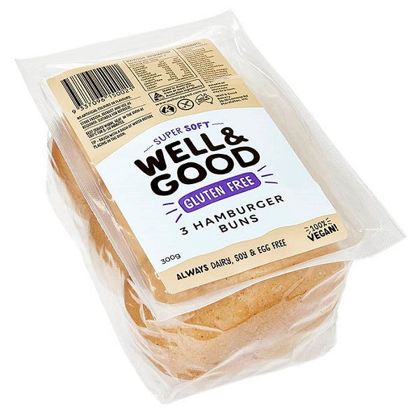 Well and Good Bread Roll Hamburger 3PK
