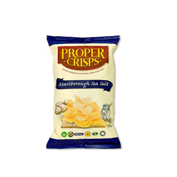 Proper Crisps Marlborough Sea Salt 140g
