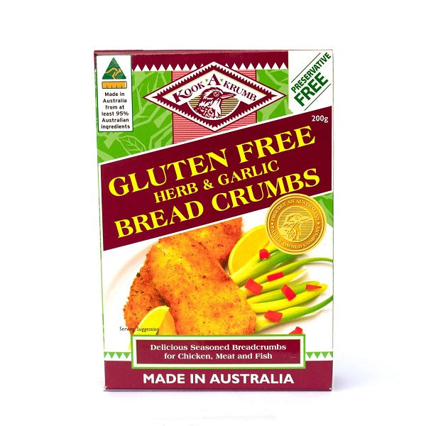 Kooka Gluten Free Breadcrumbs - Herb and Garlic 200g