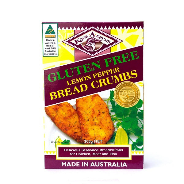 Kooka Gluten Free Breadcrumbs - Lemon Pepper 200g