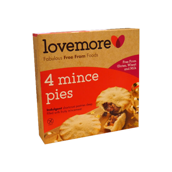 Lovemore Mince Pies 4 Pack 280g