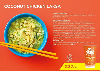 Mr Lee's Noodles - Coconut Chicken Laksa 56g