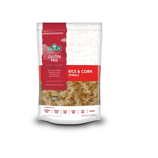 Orgran Pasta Rice and Corn Spirals 250g