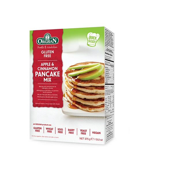 Orgran Pancake Mix Apple and Cinnamon 375g