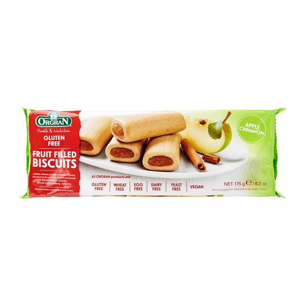 Orgran Biscuits Apple and Cinn Filled175g