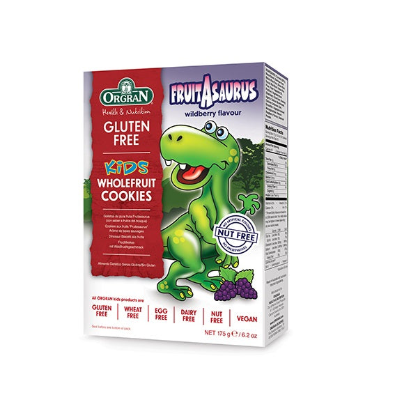 Orgran Biscuits Fruitasaurus Wholefruit 175g
