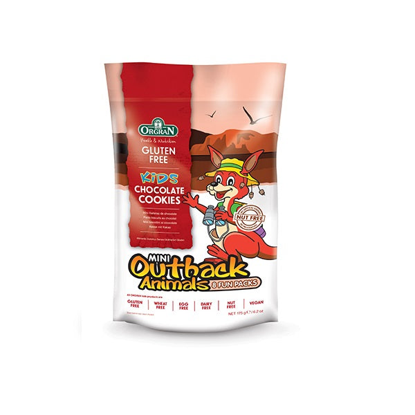 Orgran Biscuits Outback Animals Chocolate Multipack (8)