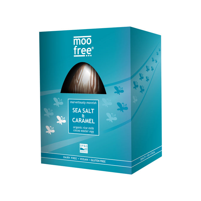 Moo Free Easter Egg Sea Salt & Caramel 160g