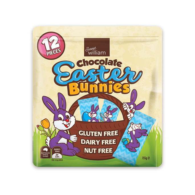 Sweet William Easter Bunnies 12 Pack 155g