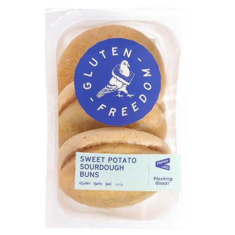 Gluten Freedom Bread Buns Sweet Potato 3pk 300g