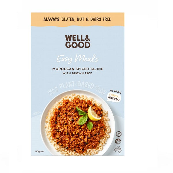 Well and Good - Meal Kit - Moroccan Spiced Tajine with Brown Rice 170g